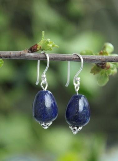 Stoneage Gümüş Küpe Lapis Lazuli Sevgiliye Hediye Renkli
